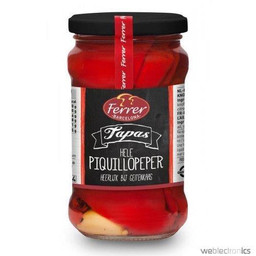 Gegrilde rode paprika gepeld pikant / look 290 gr