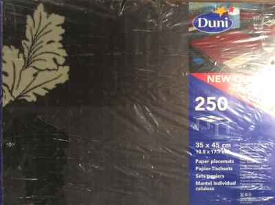 Duni tableau big pomp . black 250 st