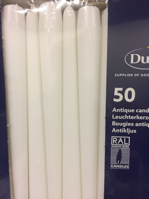 Duni kaars wit 50st
