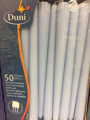 Duni kaars aqua 50st