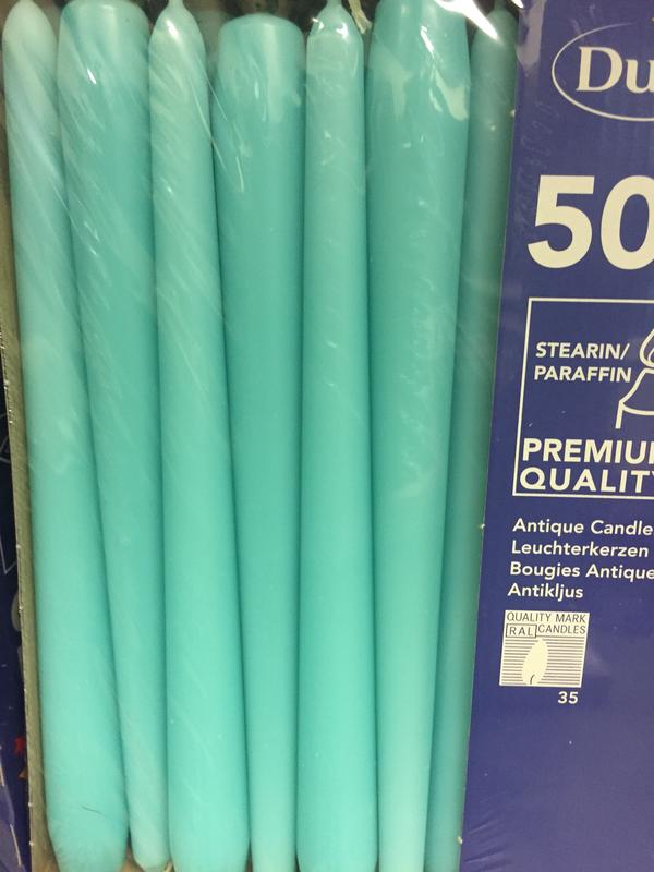 Duni kaars mint blue 50st
