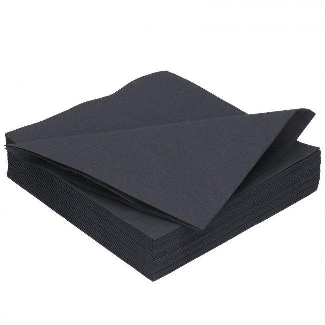 Duni zwart servetten 2lg 40 x 40cm 125st