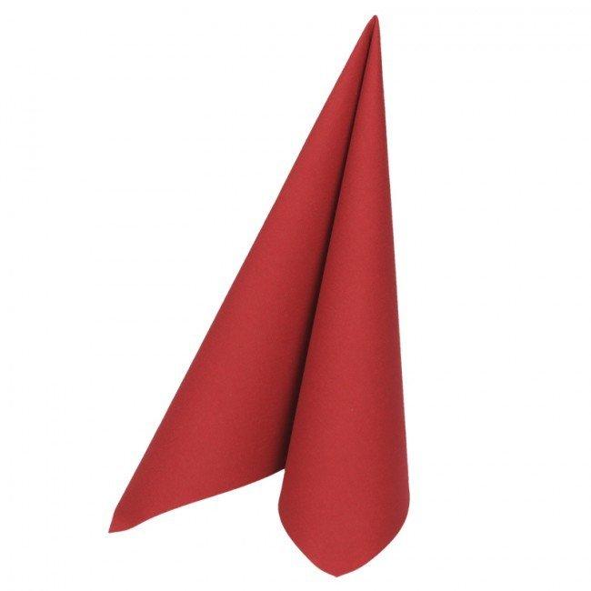 Duni soft servetten bordeaux 40 x 40cm 60st