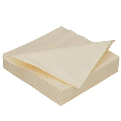 Duni cream 2lg 33 x 33cm 125st