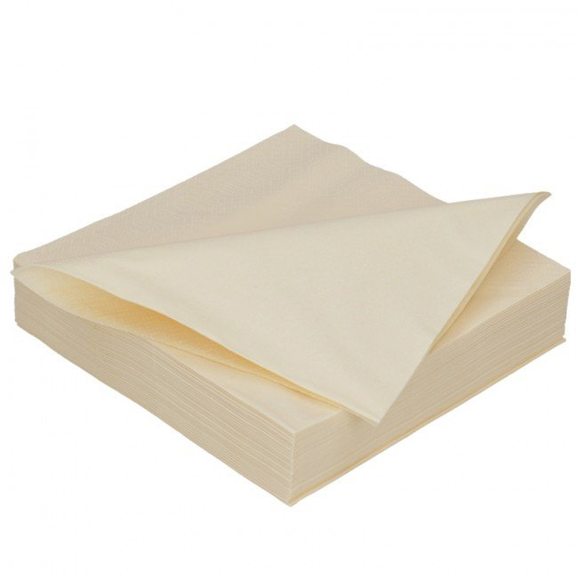 Duni cream 2lg 40 x 40cm 125st