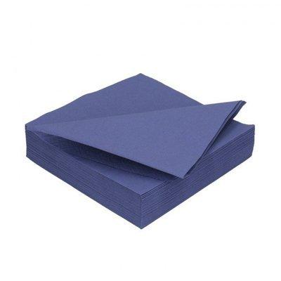 Duni donker blauw 2lg 33 x 33cm 125st