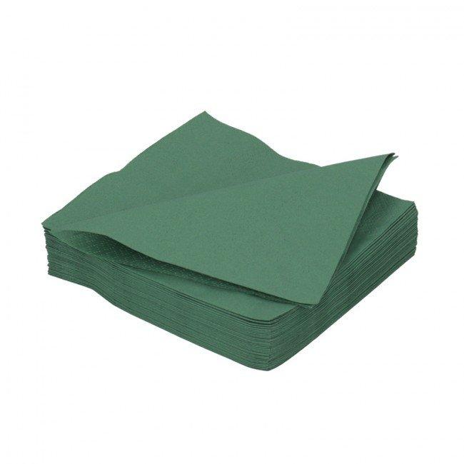 Duni donker groen 2lg 40 x 40cm 125st