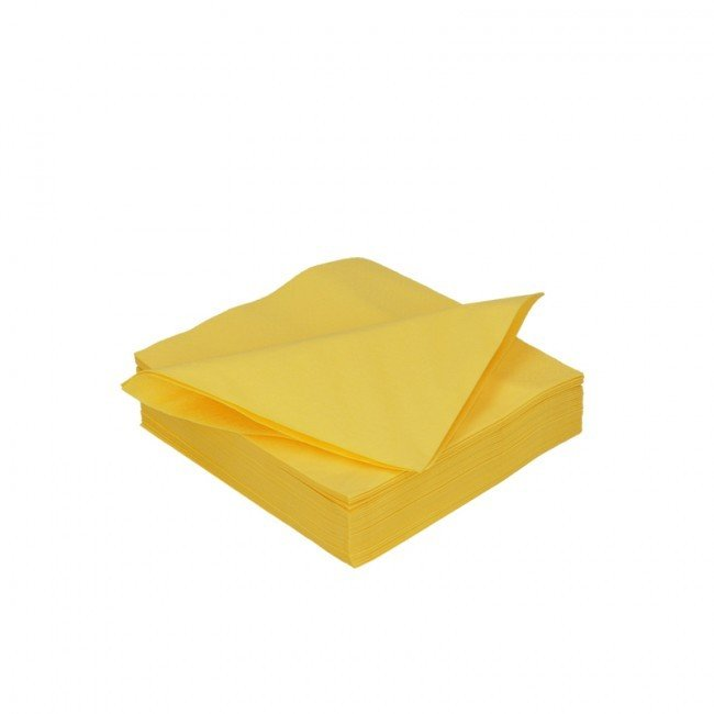 Duni geel 2lg 33 x 33cm 125st