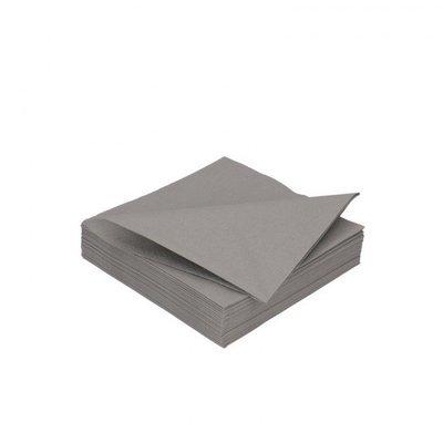 Duni granite grey 3lg 24 x 24cm 250st