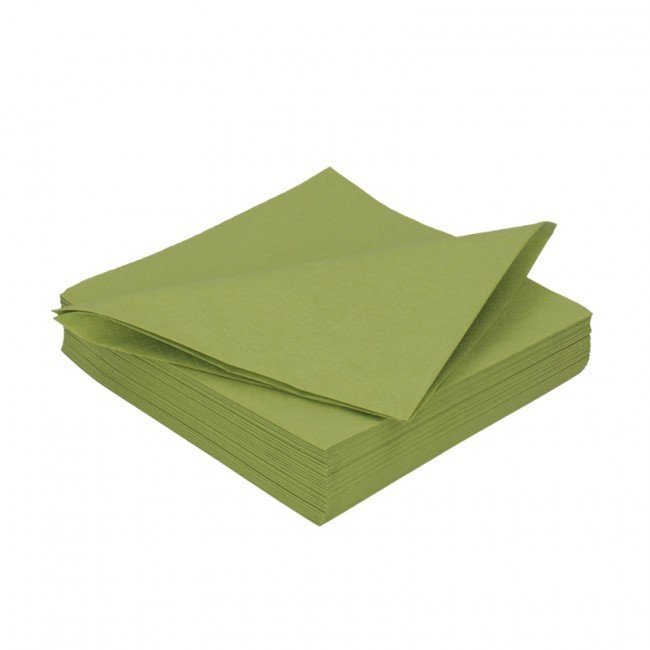 Duni leaf groen 2lg 33 x 33cm 125st