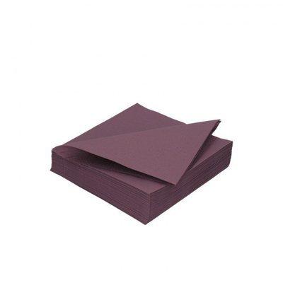 Duni servetten plum 3lg 33 x 33cm 125st