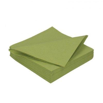 Duni servetten herbal groen 3 laag 33 x 33cm 125st