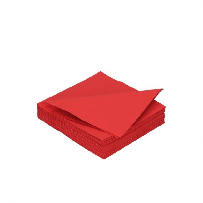 Duni rood 3lg 24 x 24cm 250st