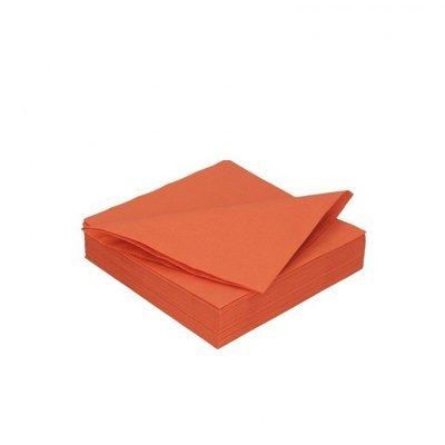 Duni mandarin servetten 2lg 40 x 40cm 125st