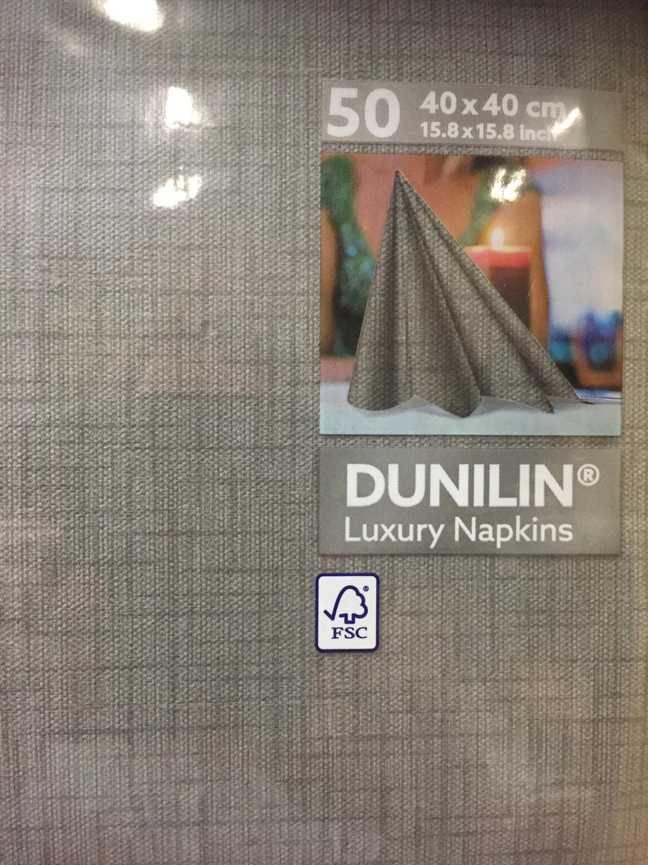 Dunilin servetten greige 40 x 40cm 45st