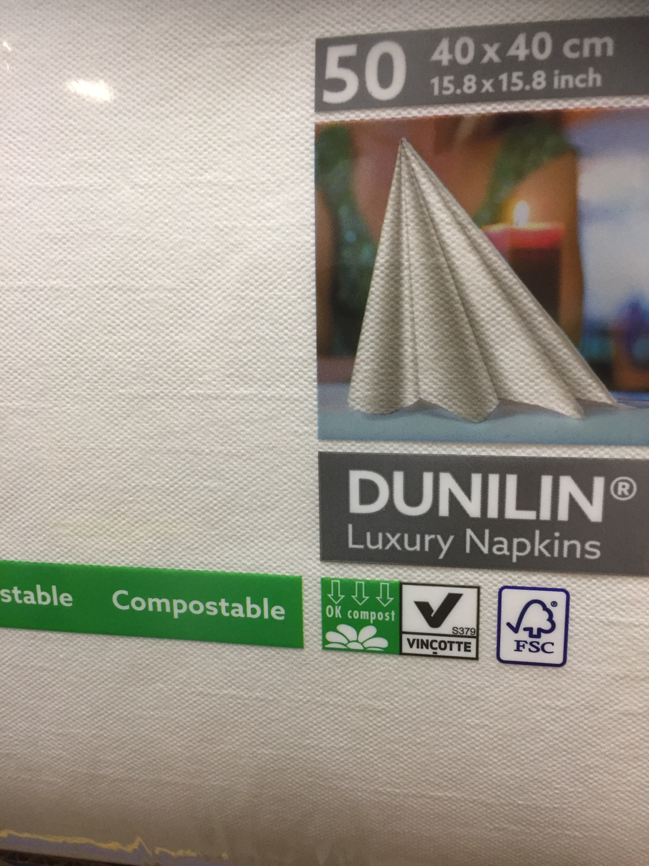 Dunilin servetten wit 40 x 40cm 50st
