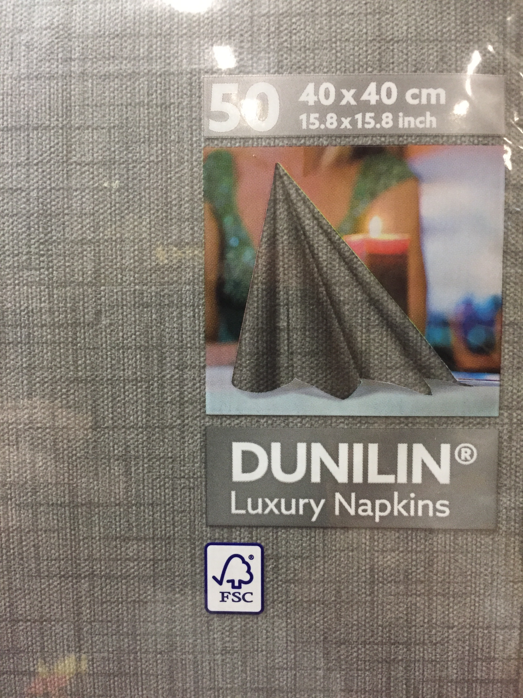 Dunilin servetten lina granit grey 40 x 40cm 50st
