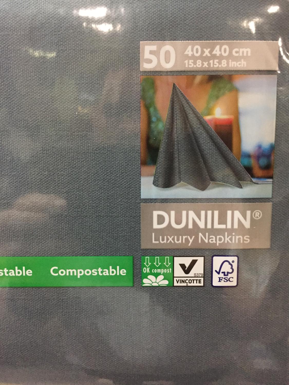 Dunilin servetten zwart 40x40cm 50st