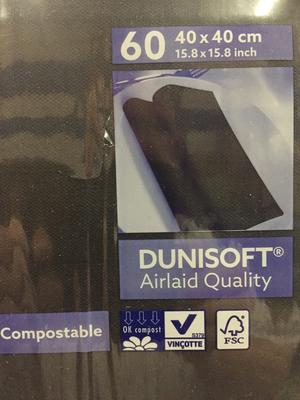 Duni soft servetten zwart 40 x 40st 60st