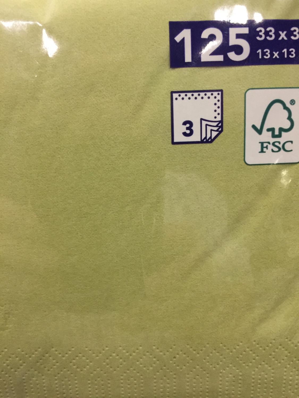 Duni servetten avocado servetten 3 lg 33 x 33cm 125st