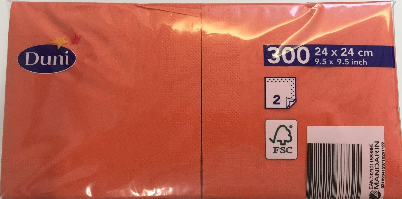 Duni servetten mandarin 24 x 24cm 300st 2laag