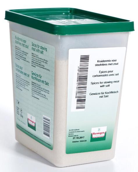 Stoofvleeskruiden met zout Verstegen 2,5 kg