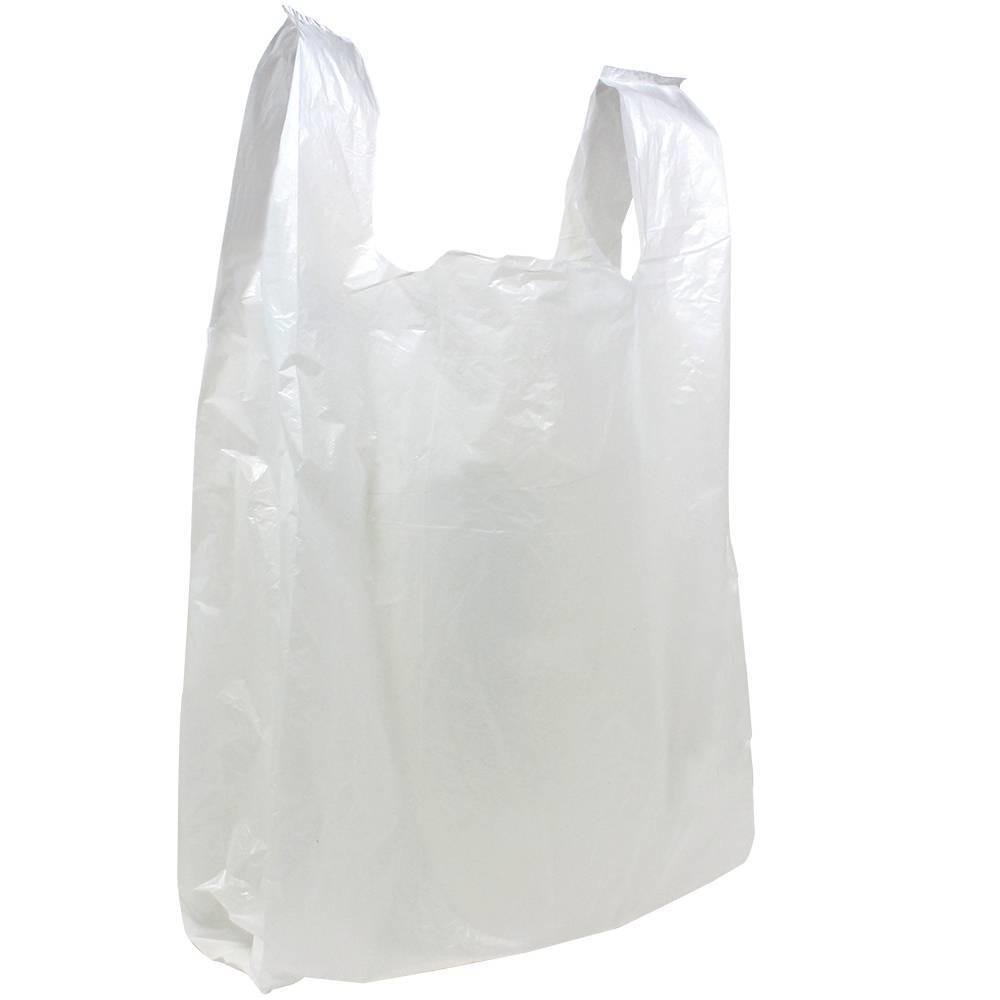 Plastiek hemd draagtas 1000st