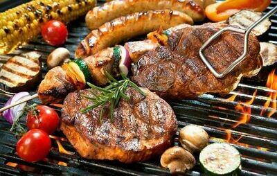 Luxe BBQ pakket inclusief groentjes en garnituren
