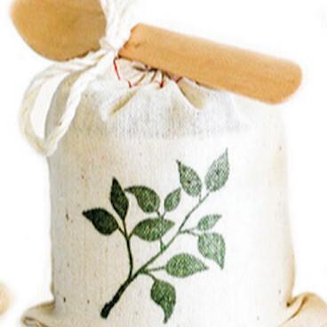 Leaf Stamp Gift Bag With Original Caramel