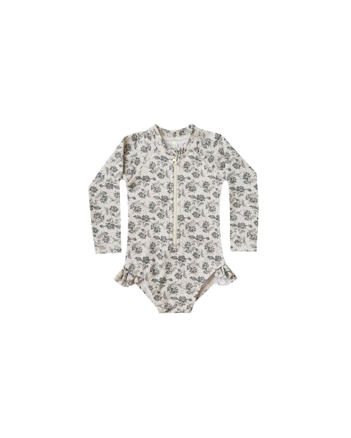 Roses Rashguard Onepiece in Ivory