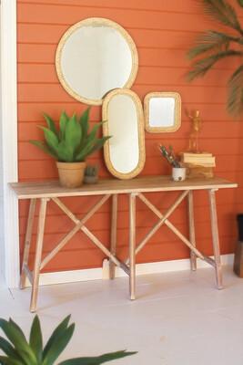 Lg Seagrass Mirror