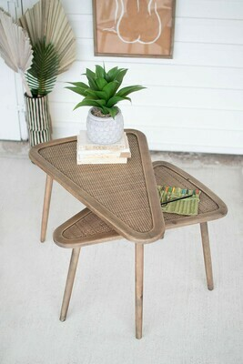 Triangle Nesting Tables Set of 2