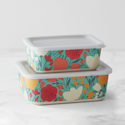 Bamboo Storage Container- Set of 2