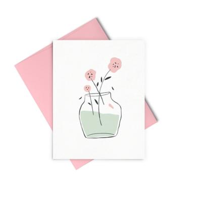 Vase of Florals Card