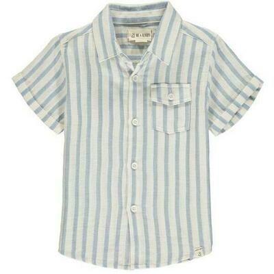 Newport blue/white stripe shirt