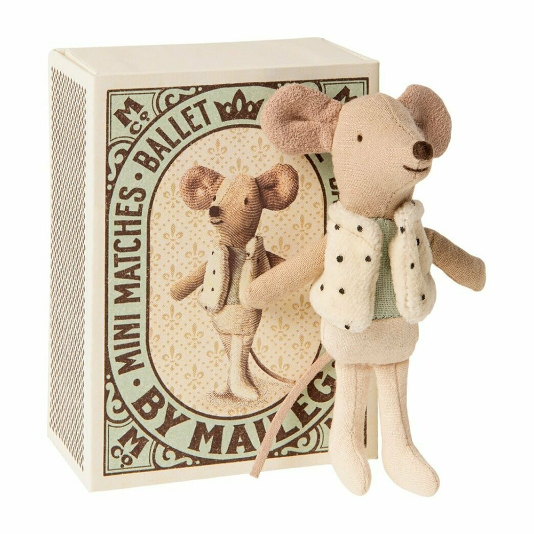 Little Brother Dancer Mouse in matchbox