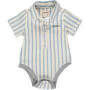 Helford Short Sleeve Onesie Blue/White Stripe