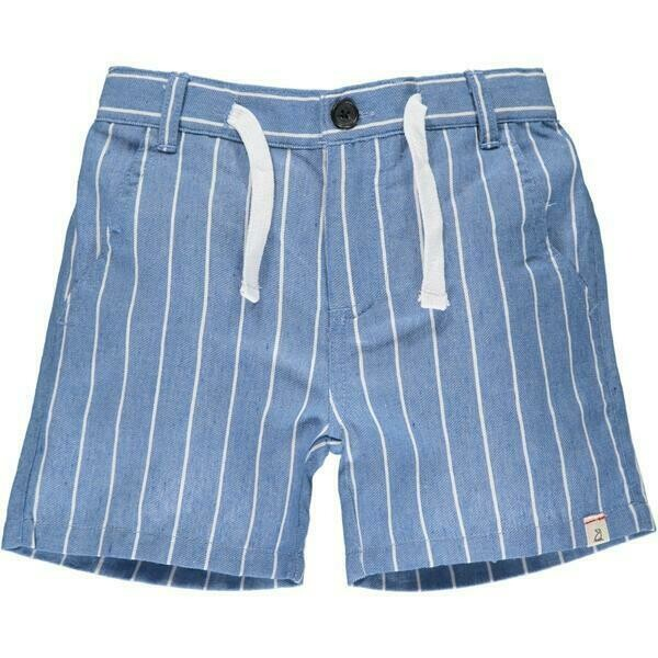 Blue/White Gauze Short