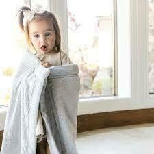 Mist Lush Recieving Blanket