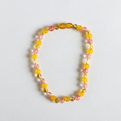 Amber/Pink Gemstone