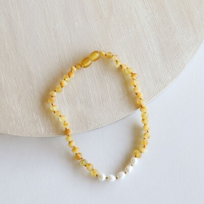 Amber Pearl Necklace