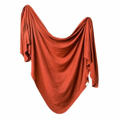 Rust Knit Blanket Single
