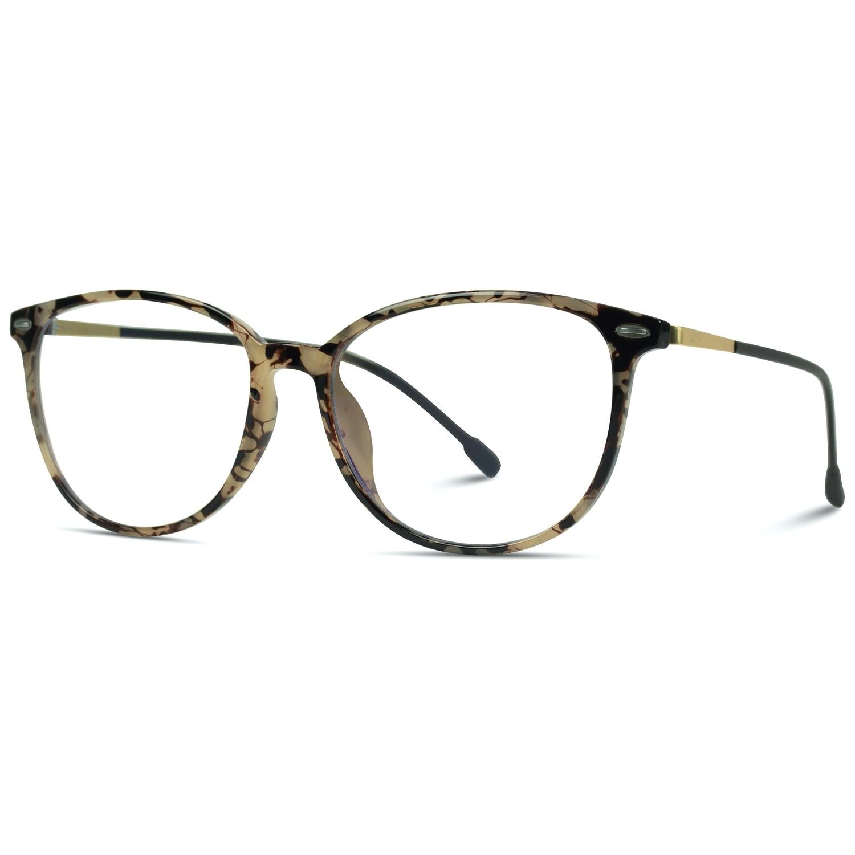 Logan Blue Light Blocking Glasses Beige Tortoise