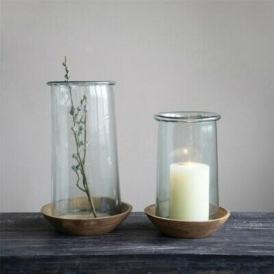 Glass & Wood Hurricane