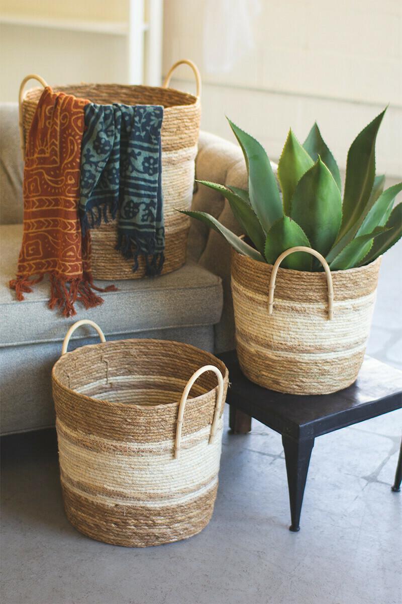 Two-toned Natural Basket lg