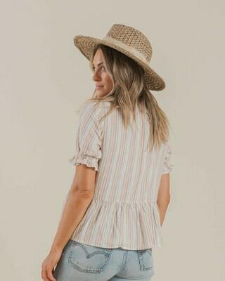 Multi Stripe Maddy Blouse