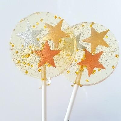 Metallic Stars Champagne Lollipop