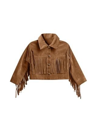 Fringe Jacket in Rust