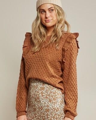La Reina Sweater Rust Women's