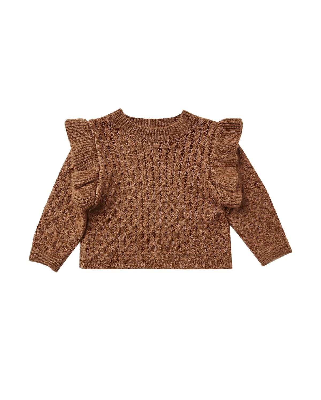 La Reina Sweater in Rust
